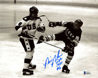 BILL BAKER SIGNED AUTOGRAPHED 8x10 PHOTO USA 80 OLYMPIC GOLD HOCKEY BECKETT BAS