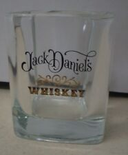 Jack Daniels Whiskey Shot Glass With Thick Bottom With Black & Gold Letters !