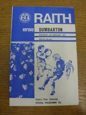 05/02/1977 Raith Rovers v Dumbarton  (Folded, Rusults Noted On Back And Inside).