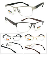Progressive Reading Glasses 3 Power Strengths in 1 Reader Semi Rimless
