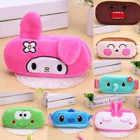 Cute Cartoon Soft Plush Pencil Pen Bag Zipper Case Makeup Cosmetic Pouch Bag