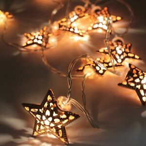 Rose Gold Series String LED Lights - Battery Operated for Garden Decor Home Room
