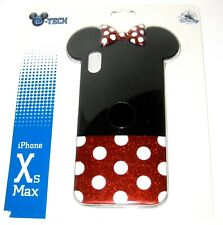 Disney Park DTech iPhone Xs MAX Case✿ Minnie Mouse 3D Glitter Bow Polka Dots Ear