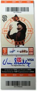 Vin Scully Signed Autographed Baseball Ticket Final Dodger Call 10/2/2016 PSA