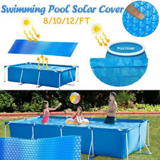 8/10/12/FT Round Blue Solar Cover Blanket for Above Ground Swimming Pool Garden