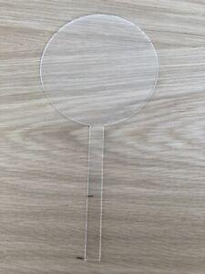 Blank Clear Acrylic Cake Topper Circle 2mm Will Fit In cutting Machin Cruicut