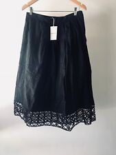 CR Love Sz 8 Country Road Embroidered Hem Skirt in Black - XS