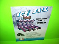 ICE Ice Ball Skeeball Original Coin-Op Amusement Arcade Game Promo Sales Flyer