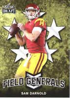 2018 Leaf Draft Football Field Generals #FG-09 Sam Darnold USC