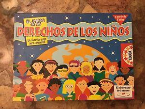 Los Derechos De Los Niños- Spanish Board Game By Educa - Very Rare