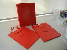Red Gift Bags for any occasion, Midi, Matt Finish, two packs of 6 = 12 bags