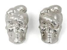 (Lot of 2) SLM Skull and Snake 100 Gram .999 Fine Silver Ingot Bars
