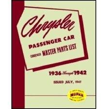 Illustrated MoPar Parts Manual for 1936-1942 Chrysler