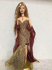 Barbie Celebrity James Bond 007 Girl Doll Blonde Crimped Hair Gold Dress Rare