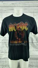 ACDC Vtg 2007 Mens Black Large Shirt Monster of Rock Tour at Castle Donington