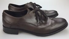John Varvatos USA Brown Leather Wingtip Men's 8.5 M Derby Oxford Shoes Wing Tips