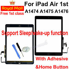 for iPad 5 Air 1st A1474 A1475 A1476 Black Touch Screen Glass Digitizer Button