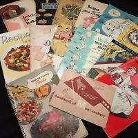Vintage recipe booklet Lot Ephemera Advertising Jello Swans Down Sunbeam