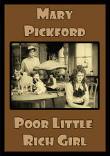 POOR LITTLE RICH GIRL (1917) DVD w/Mary Pickford **Rare Silent Classic**