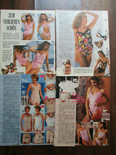 100 PAGES VINTAGE CATALOG CLIPPING LOT SEXY WOMEN LINGERIE 90S YEARS