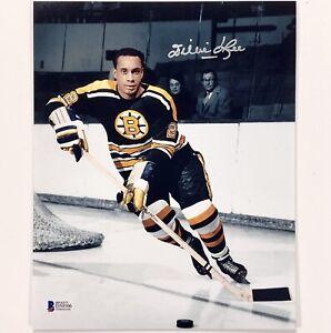 HOF Willie O'Ree autograph Boston Bruins signed 8x10 Photo BAS COA Beckett