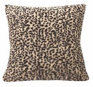 fa13a Dark Brown Lt. Tan Leopards Soft Fleece Cushion Cover/Pillow Case Custom