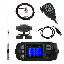 Dual Band VHF UHF Mobile Radio Transceiver+Antenna+Mount+Mic Cable+Program Cable