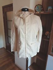 C.P. COMPANY IVORY FLAX LINEN SPALMATURA HOODED SHORT SLIM FIT JACKET-S,10-UK