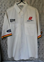 NASCAR Rusty Wallace #2 Miller Lite Chase Short Sleeve Pit Crew Shirt Large NWT