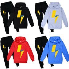 LACHLAN POWER Kids Tracksuit Casual Hoodies Tops Sweatshirt +Pants Trousers Set