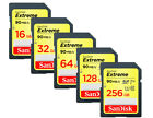 SanDisk Extreme 256GB 128GB 64GB 32GB 16GB SD SDHC SDXC Card Lot Class10 90MB/s*