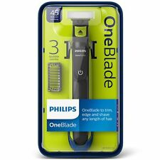 Philips OneBlade QP2520 Men's Hybrid Face Trimmer and Shaver 3 Combs 1, 3, 5mm