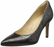 Clarks Ladies Smart Court Shoes LAINA RAE Black / Metallic Leather UK 5.5 / 39