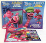 New 4 Pc Trolls World Tour Coloring & Activity Book 8 Markers + Notebook/Journal