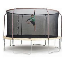 14ft Trampoline and Steelflex Pro Enclosure Combo Set Outdoor Toy Birthday Gift