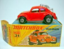 Matchbox Superfast Nr.31B Volksdragon rot gelbe Einrichtung in Box