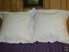 2 Euro or European Pure White Pillow Shams 26X26 made in usa