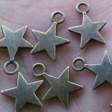 50pc Antique Bronze Star Small Pendants Charms Accessories Jewellery Making V147