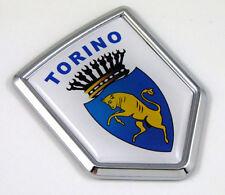 Torino Turin Italy Flag Car Chrome Emblem Decal 3D bike Sticker Crest fiat