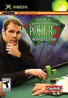 World Championship Poker 2 Featuring Howard Lederer Microsoft Xbox, New Sealed!