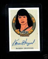 Xena &Hercules Animated  Karen Sheperd auto card