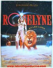 ROSELYNE ET LES LIONS Affiche Cinéma / Movie Poster JEAN JACQUES BENEIX / CIRQUE