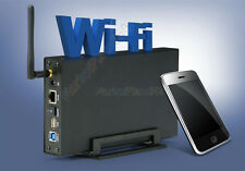3.5 Mobile Wireless Storage HDD WiFi Hard Drive Enclosure USB 3.0 Wifi Lan Box