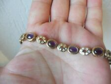 Fine Bracelet, 925 Silver Gold Plated with Beautiful Steinenbesatz, Ametysten