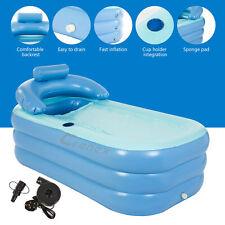More details for inflatable bath tub adult portable spa warm bathtub blow up travel bath foldable