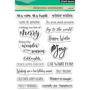 Penny Black Clear Stamp Set - CHRISTMAS SENTIMENTS