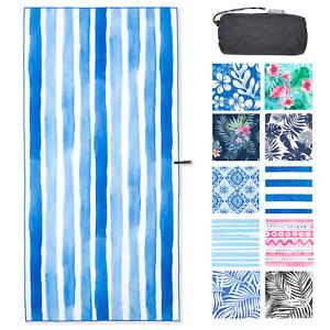 NewLyfe Sand Free XL Beach Towel & Bag, Quick Dry Microfibre, Compact & Light