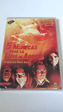 """DVD """"5 MUÑECAS PARA LA LUNA DE AGOSTO"""" PRECINTADA MARIO BAVA UNCUT WILLIAM BERGE"""
