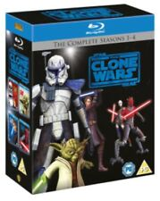 ⭐️Star Wars The Clone Wars Seasons 1-4 Blu-ray Box Set Film Movie Clearance