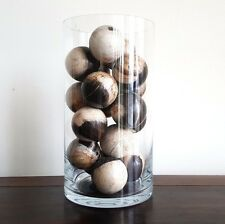 Balls, petrified wood, handmade, small, unique, decorative, decor